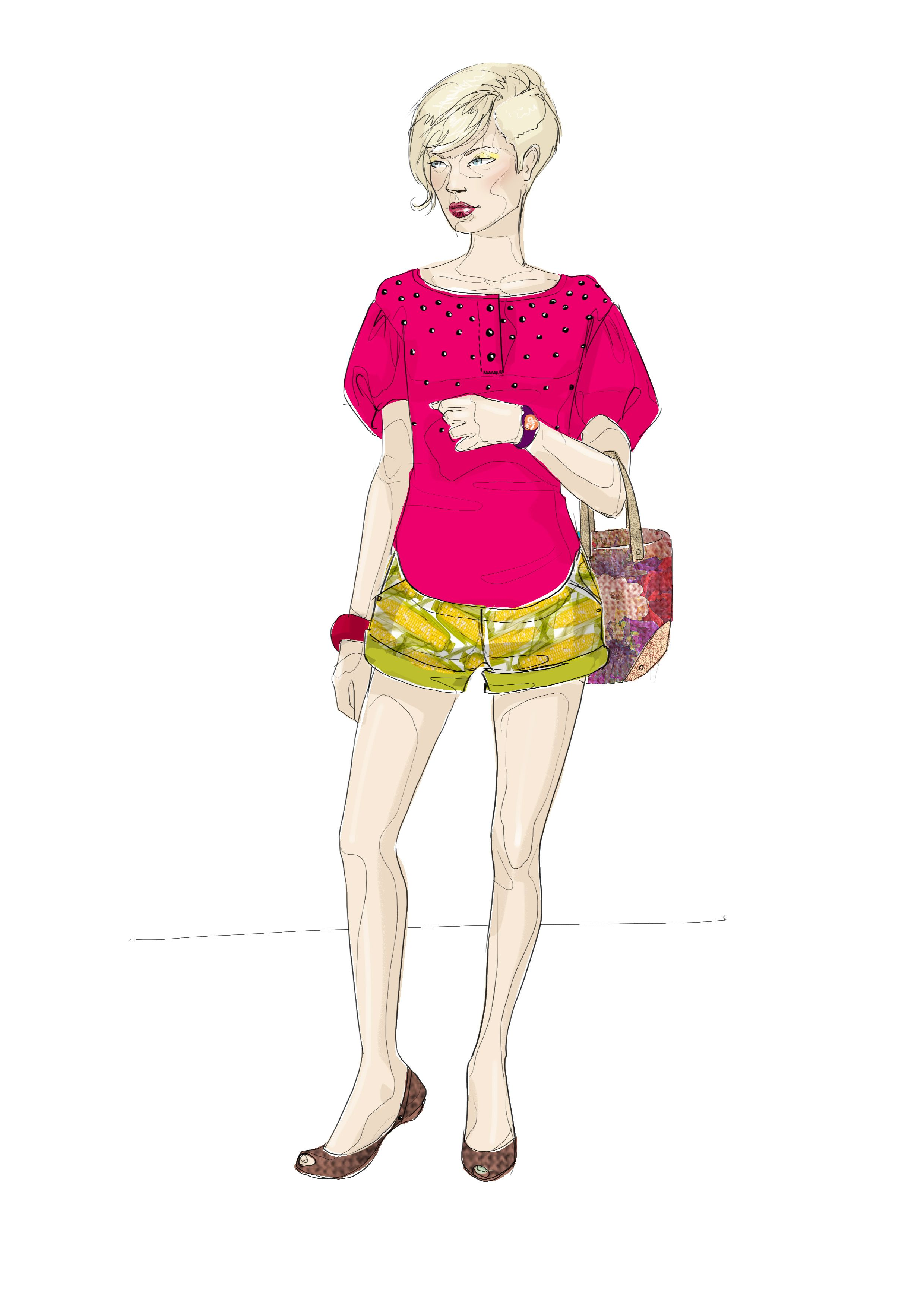 Fashion Illustration By Nathalie Ozier In