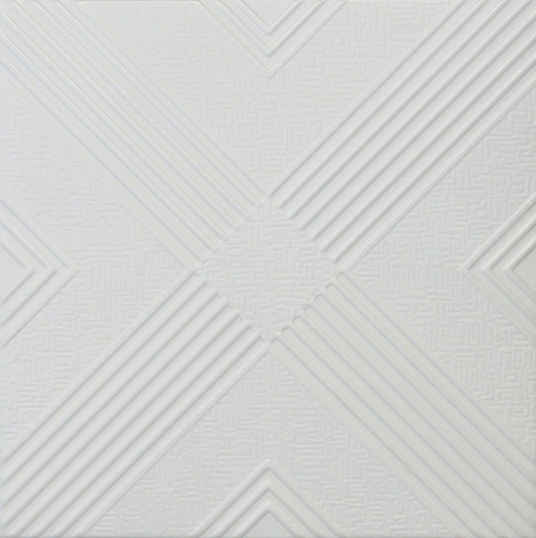 Malta R34w 20 X 20 Tin Looking Styrofoam Glue Up White Ceiling Tile