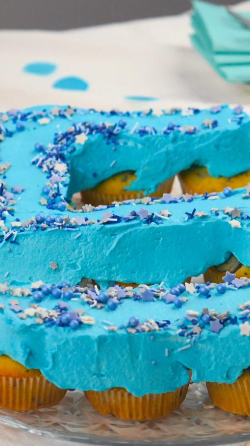 Muffin-Zahl zum Geburtstag