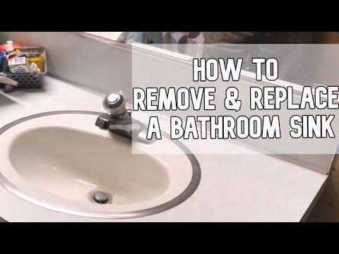 20 How To Remove And Replace A Bathroom Sink Diy Video Diy Sink Youtube In 2020 Bathroom Sink Diy Bathroom Sink Replace Bathroom Faucet