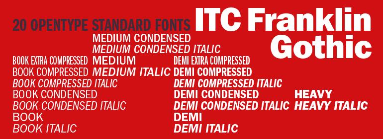 ITC Franklin Gothic Font | Fonts | Gothic fonts, Fonts