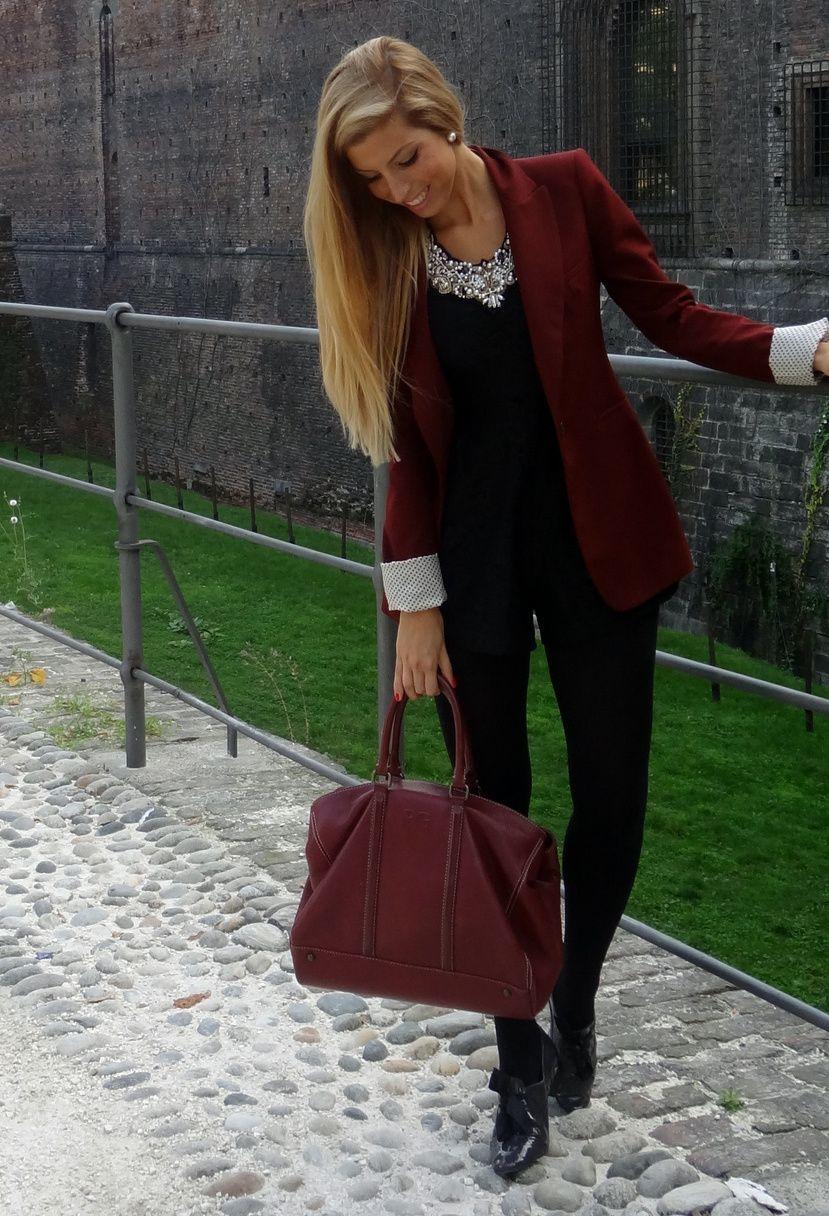 Zara  Blazers, Purificacion Garcia  Bags and Zara  Jewelry
