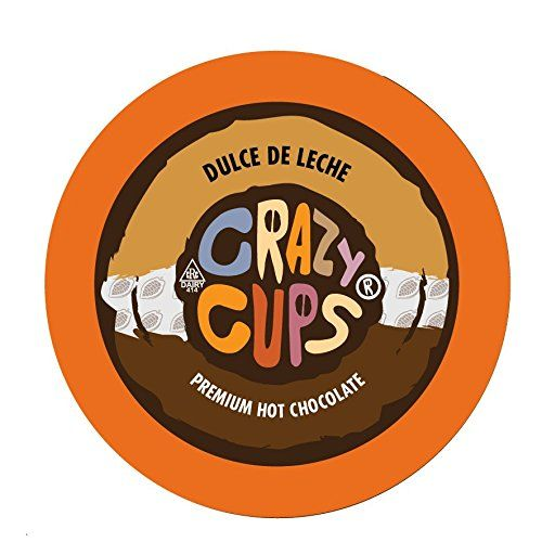 Crazy Cups Seasonal Hot Chocolate, Dulce De Leche Hot Chocolate Hot Cocoa, Single Serve Cups for Keurig K Cup Brewers, 22 Count