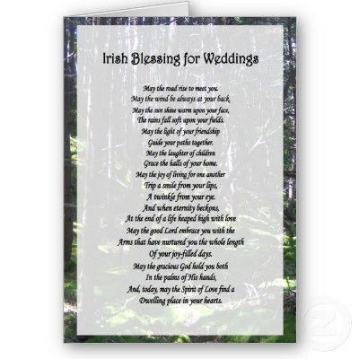 Irish Blessing for Weddings Card from Zazzle.com   Wedding Ideas ...