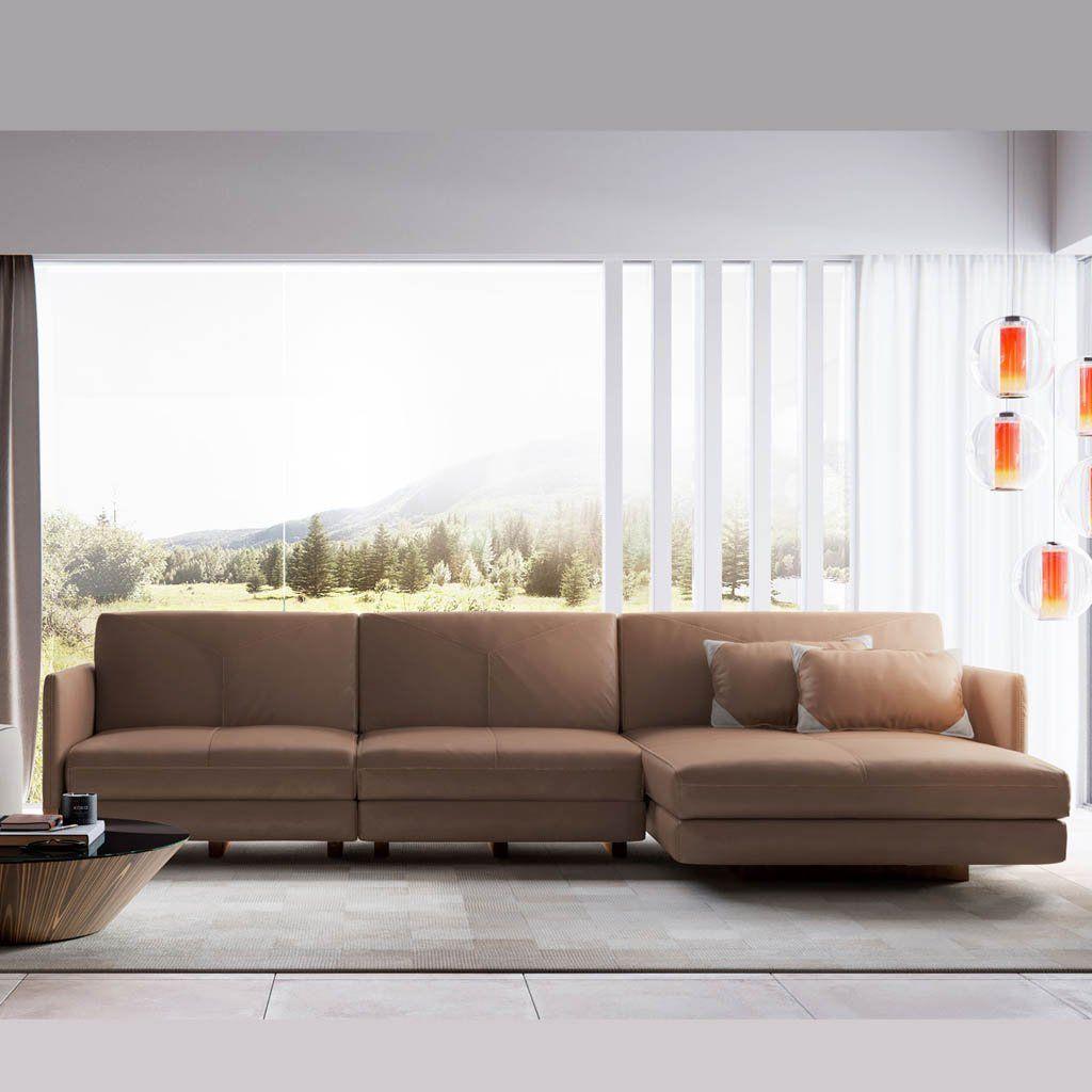 Lafayette Sectional Sofa Right in Safari | Sweet Sofas ...