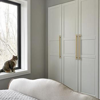 White Closet Doors With Long Br Pulls