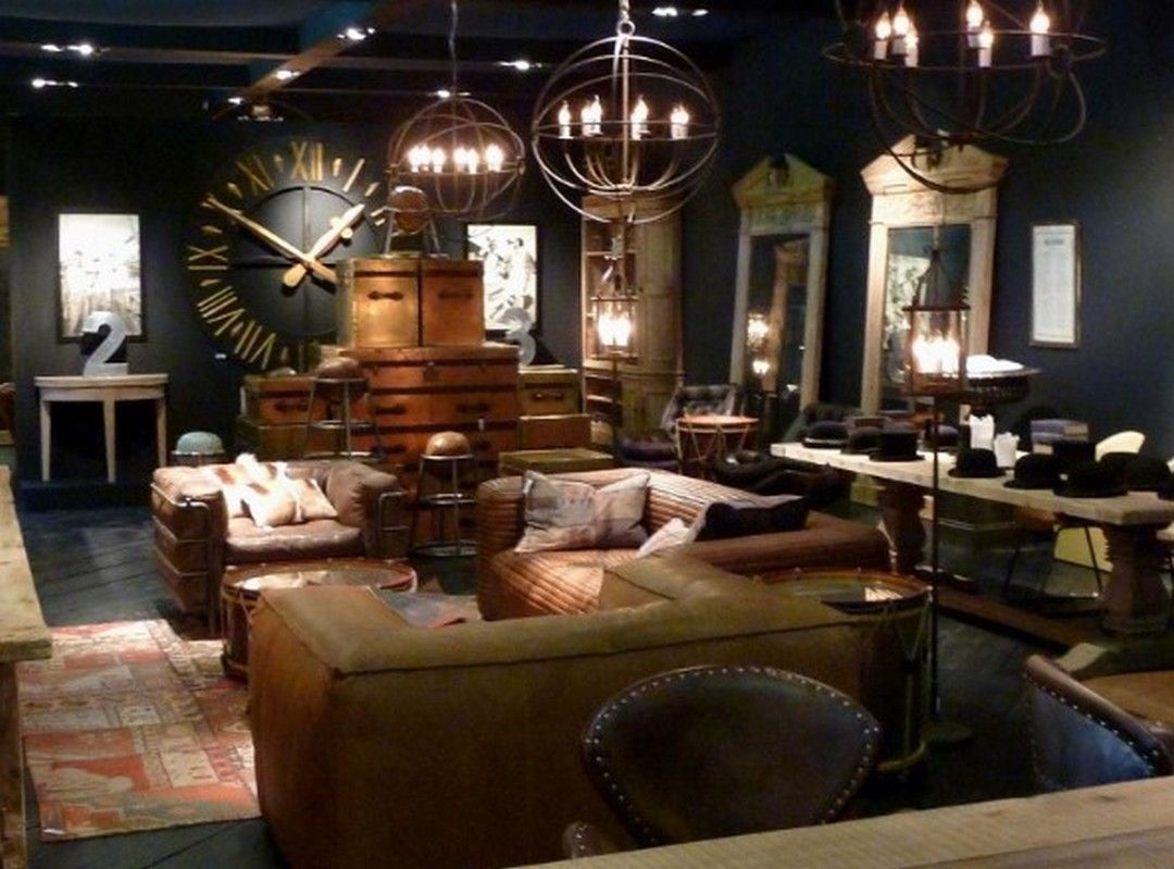 5 Decorating A Living Room In Steampunk Style Decortheraphy Com Steampunk Home Decor Steampunk Interior Design Steampunk Bedroom