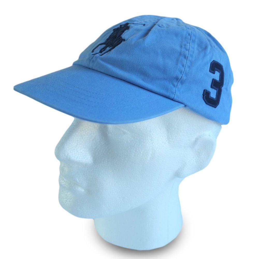 210b945645e68c Polo Ralph Lauren Big Pony Baseball Cap Hat Sky Blue Men & Women Special  Price