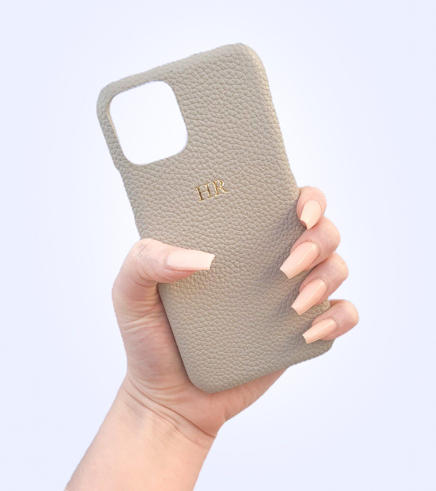 Iphone 11 Grey Pebble Leather
