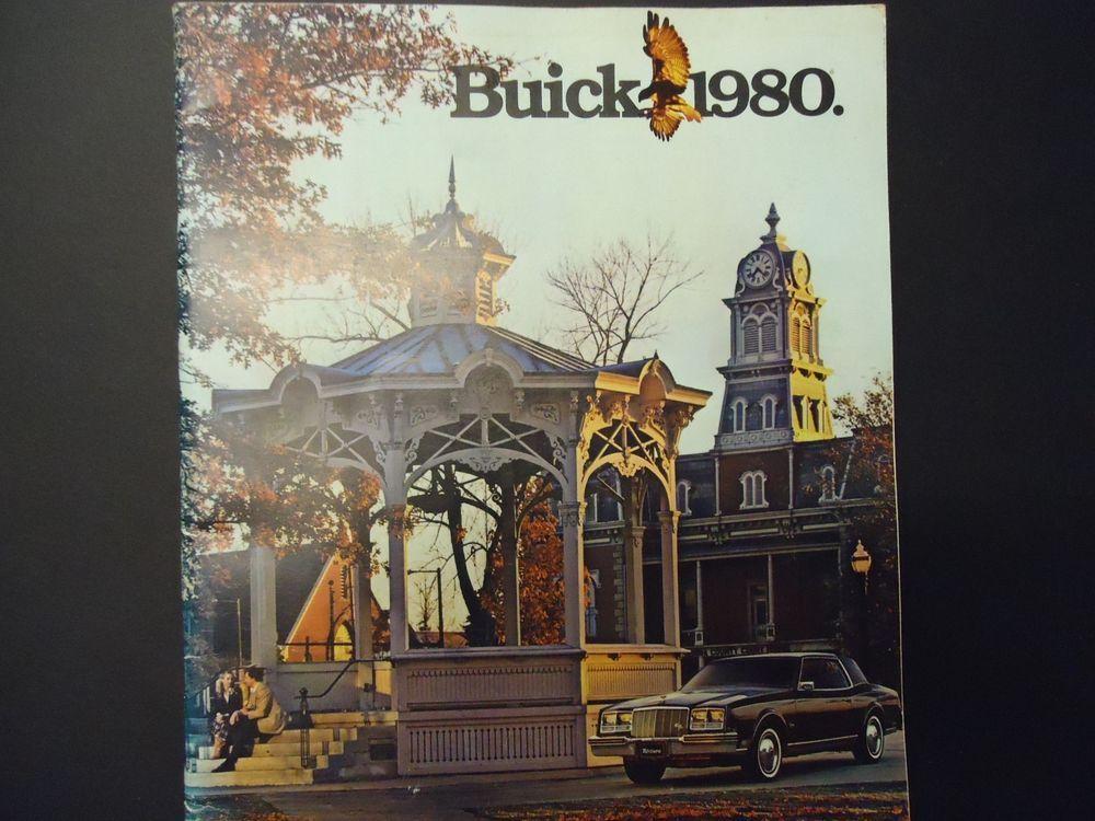 vintage dealership Brochure Buick 1980 multiple models