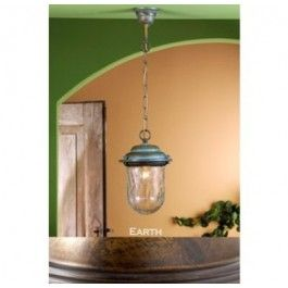 Lustrarte 1032 One Light 7.5 Inch Wide Outdoor Pendant from the Crackle Collection