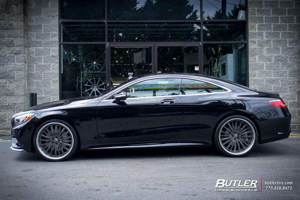 Mercedes S Class Coupe With 22in Lexani Lf722 Wheels Mercedes S