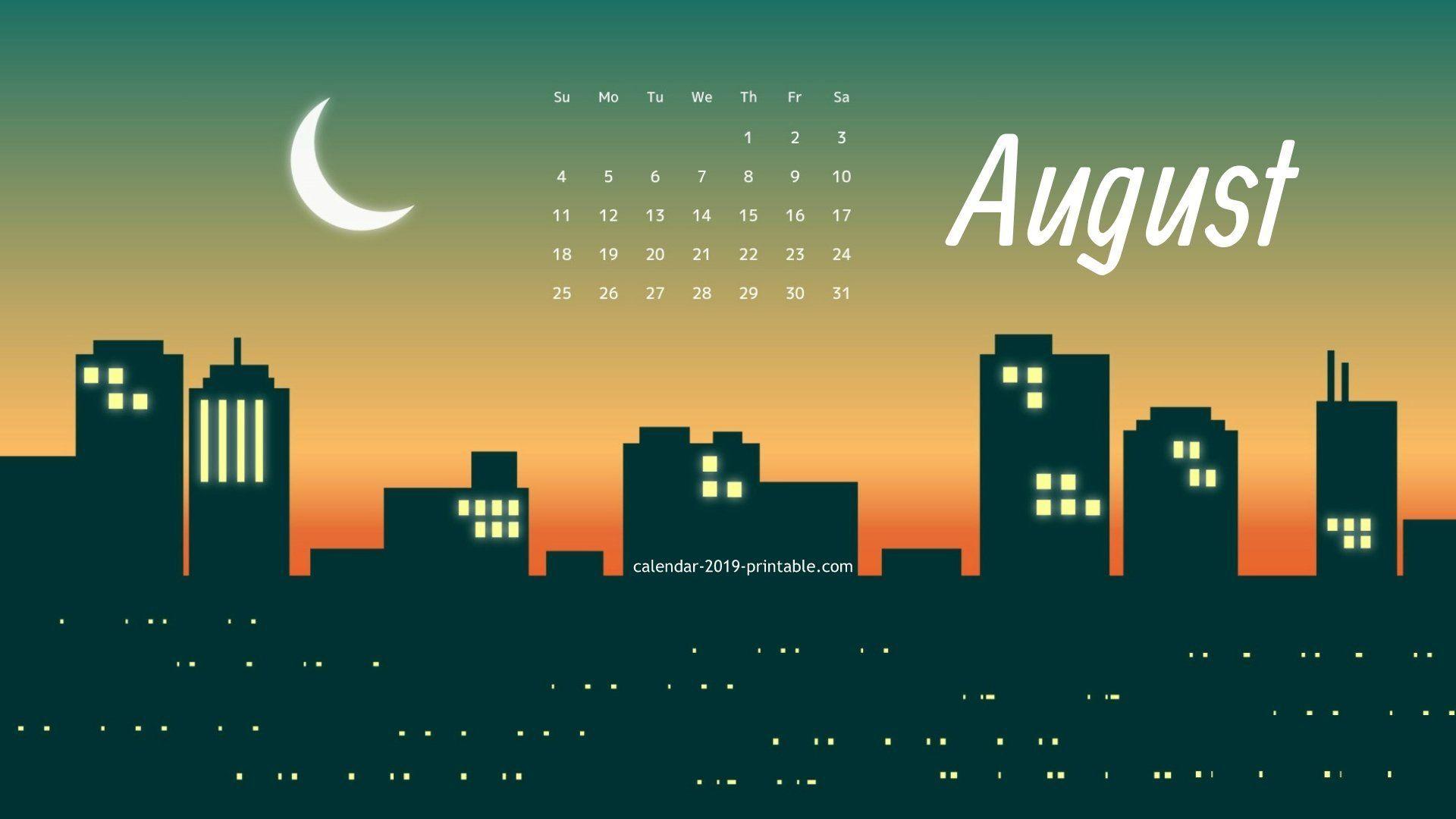 August 2019 Pc Calendar Wallpaper Desktop Calendar Wallpaper 2019 Calendar August Calendar