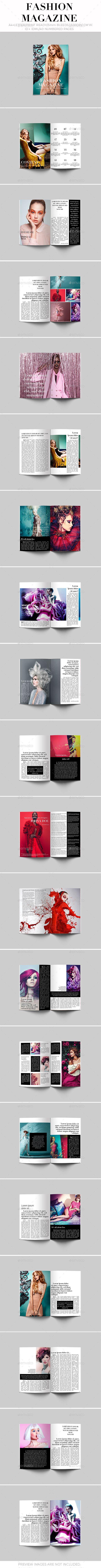 Fashion Magazine Template Pinterest Template Print Templates