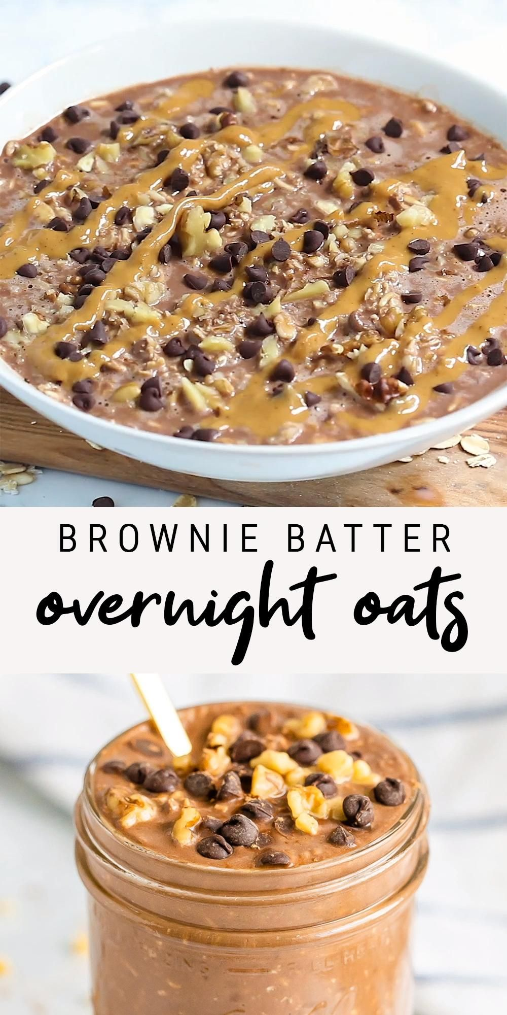 Healthy Brownie Batter Overnight Oats