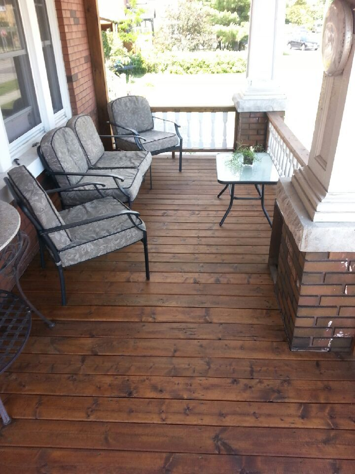 Front Porch Stained With Armstrong Clark Oil Based Wood Stain