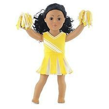 18 Inch Doll Clothes/clothing Fits American Girl - Yellow Cheerleader Outfit ... #18inchcheerleaderclothes 18 Inch Doll Clothes/clothing Fits American Girl - Yellow Cheerleader Outfit ... #18inchcheerleaderclothes
