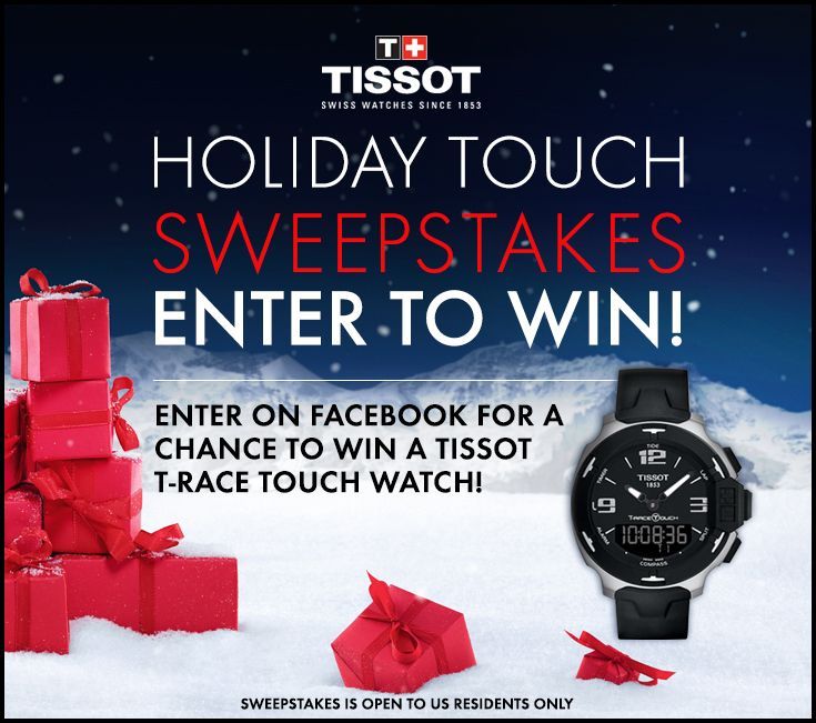 53e495d578a Like our page and enter your email for a chance to win a Tissot T-