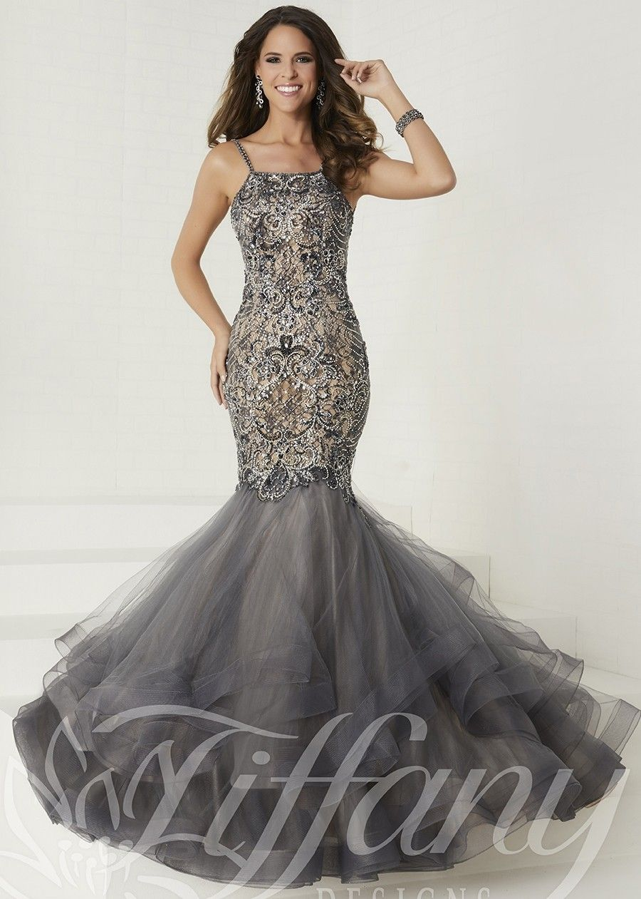 7ba56fd5ac Tiffany 16280 Elegant Beaded Mermaid Style Gown - Prom Gown - Pageant  Dresses