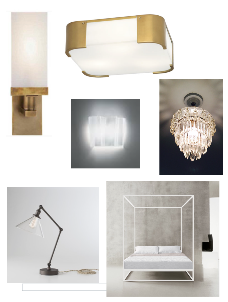 Interior Lighting Top Left To Right Master Bath Scones Ceiling Bedroom Sconces
