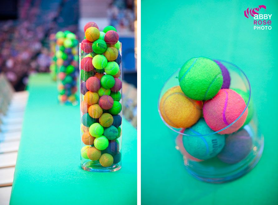 Tennis Party Beautiful Decorations Dyed Tennis Balls Love All