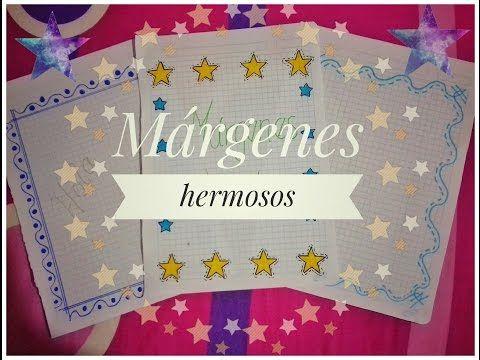 Márgenes bonitos para cuadernos - Muy faciles - YouTube