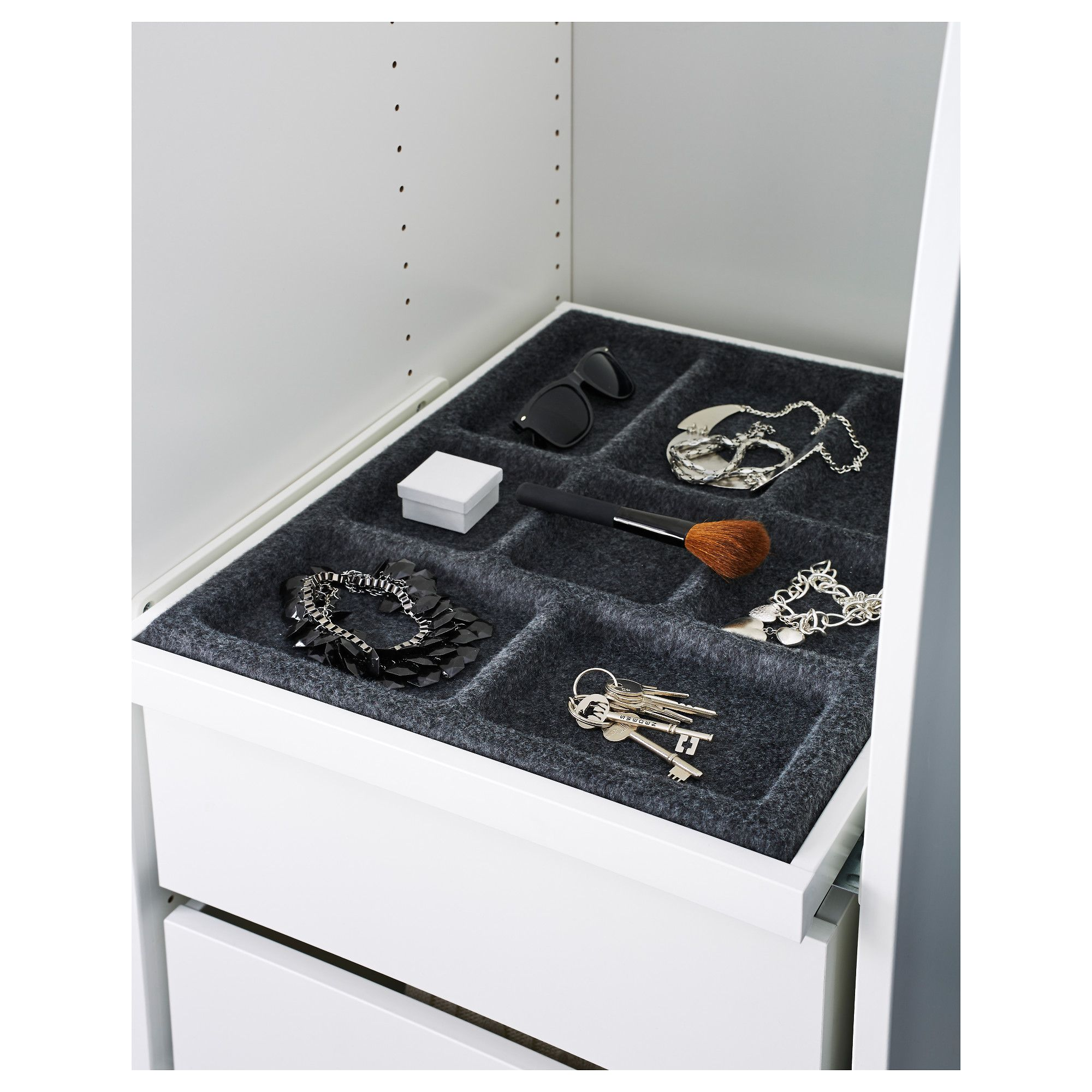 IKEA - KOMPLEMENT Pull-out tray with insert white, gray
