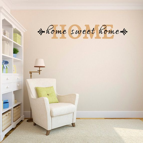 Home Sweet Home Vinyl Wall Lettering By KWintersDesigns On Etsy, $17.00