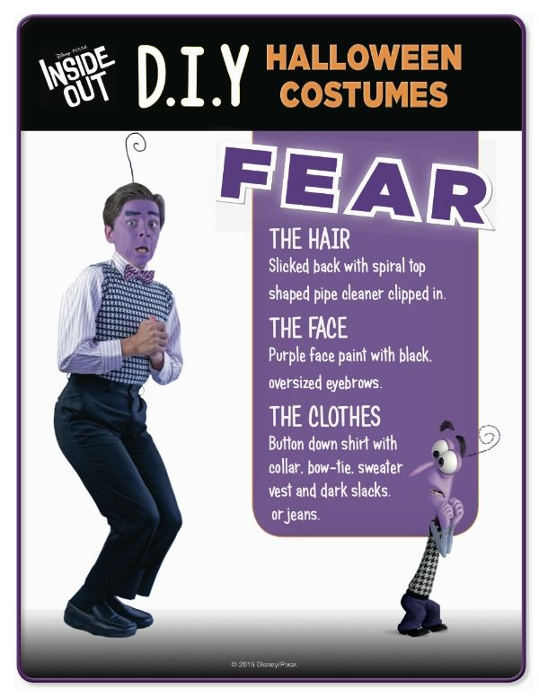 Why Not Throw An Inside Out Halloween Party No Need To Go And Buy Costumes Heres Some Quick Easy DIY Disney Costume Ideas