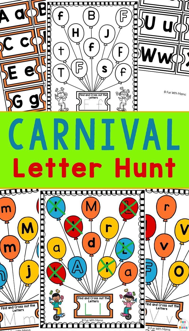 Carnival Letter Hunt Fun Preschool Letter Worksheets Preschool Letters Fun Preschool Worksheets Kindergarten Worksheets [ 1400 x 800 Pixel ]