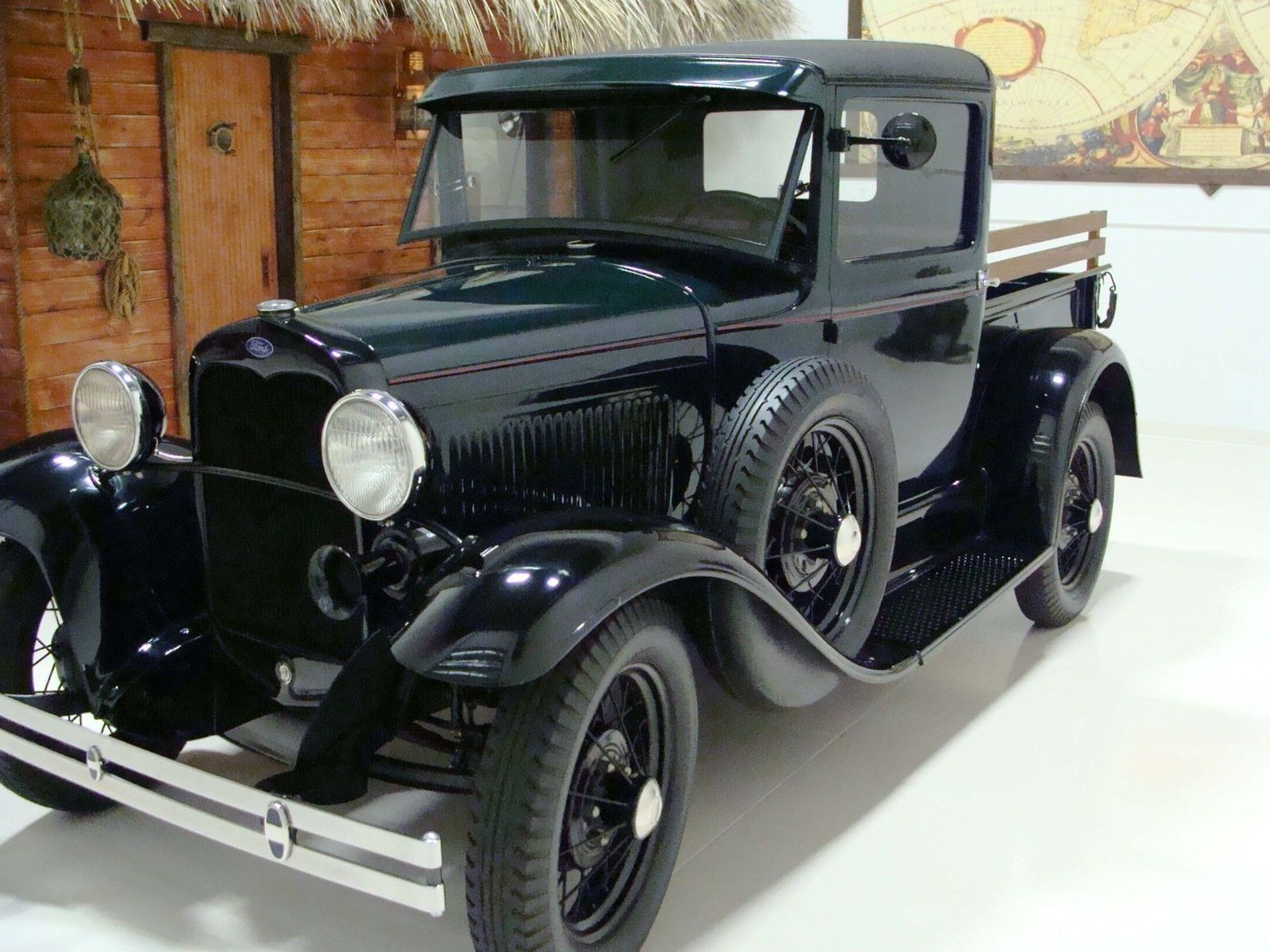 1930 ford model a pickup truck in green black matching numbers engine and title. Black Bedroom Furniture Sets. Home Design Ideas