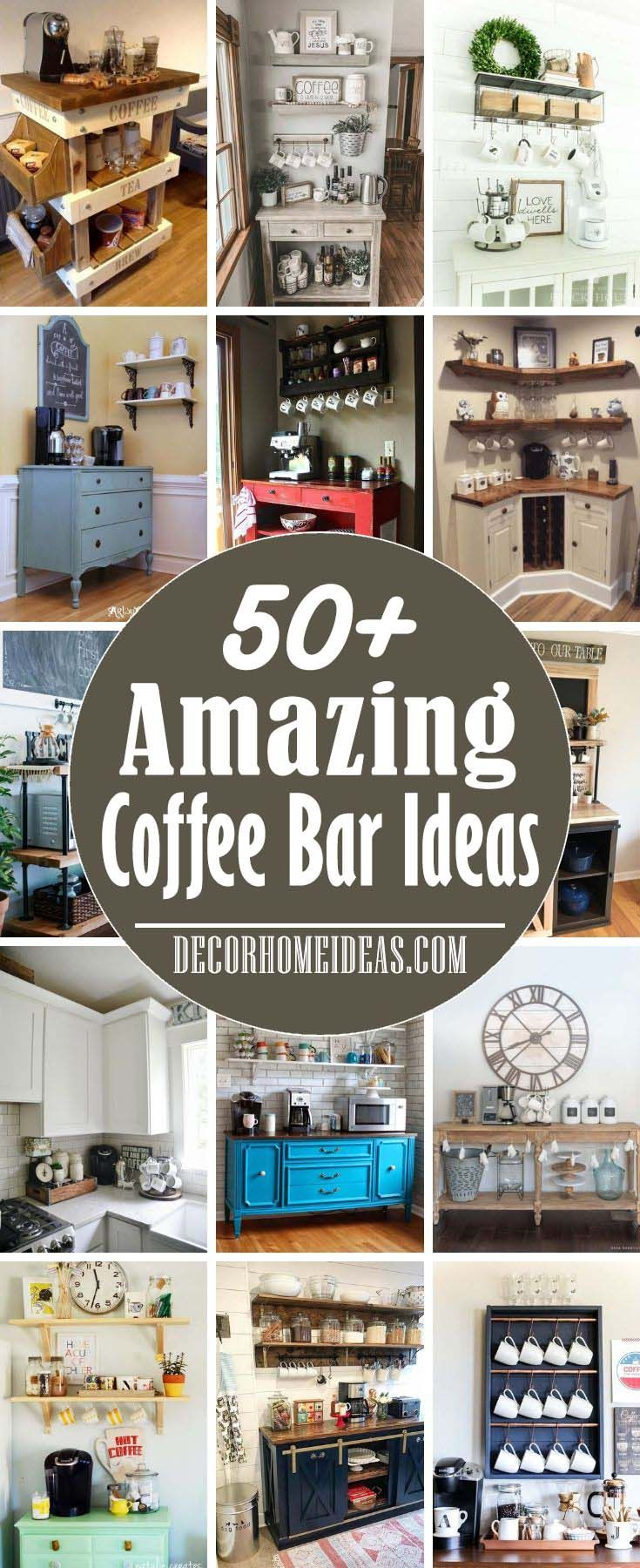 100 Best DIY Coffee Bar Ideas For All Coffee Lovers -   15 diy projects Kitchen coffee stations ideas