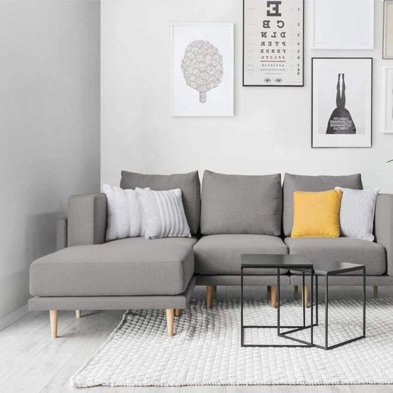 Modulares Scandi Style Sofa CLOOODS, mittelgrau, 247cm breit