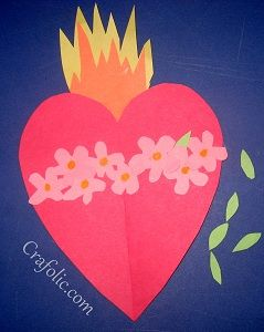 Catholic arts, crafts, games, activities, and ideas to help parents and teachers share the faith with children! Catholic Crafts, Catholic Kids, Catholic Homeschooling, Catholic School, Religious Education, Sunday School Crafts, Preschool Crafts, Hearts, Create