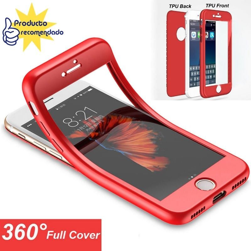 carcasa funda roja doble iphone 8