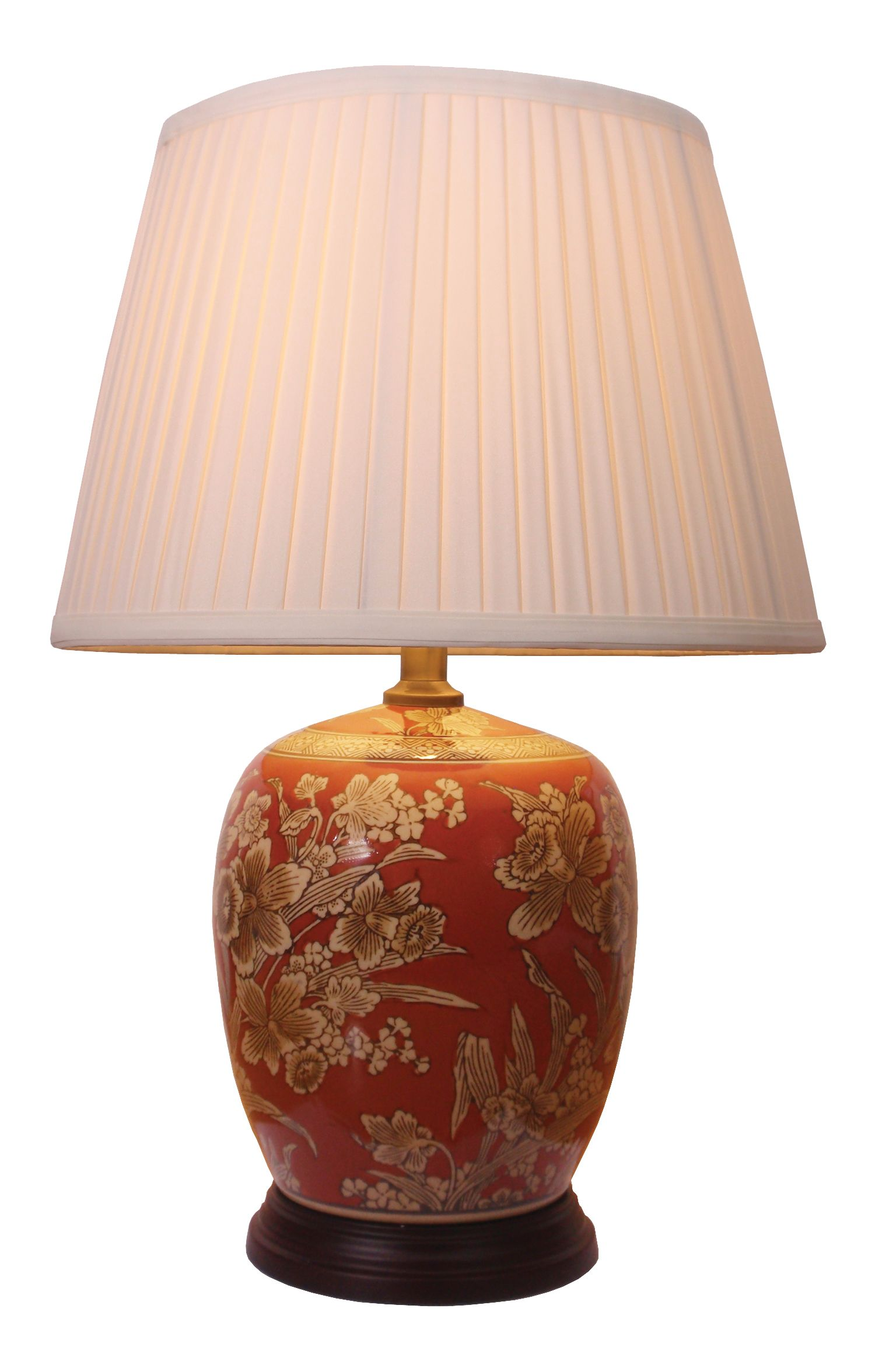 Chinese porcelain jar table lamp set in a lovely floral theme10 chinese porcelain jar table lamp set in a lovely floral theme10 inch 25cm geotapseo Gallery