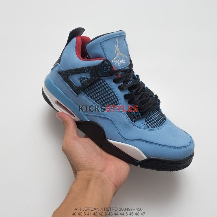 Travis Scott x Air Jordan 4  Houston Oilers  308497-406  45efe5fdae