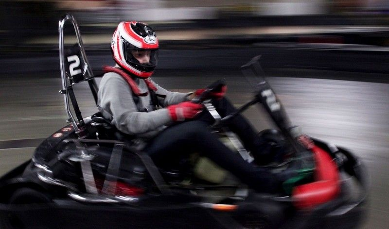 At Traxx Racing in Mukilteo, kids can party by doing laps on the go-kart course.