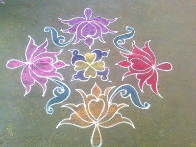 kolam couleur lotus