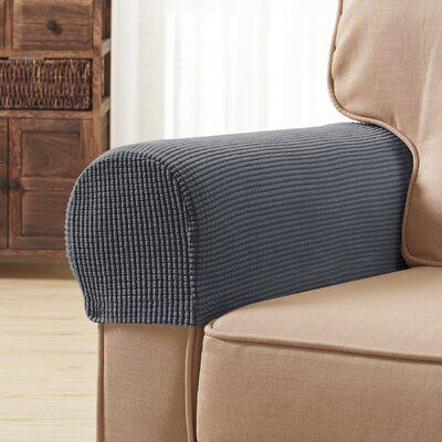 Symple Stuff Jacquard Spandex Stretch Box Cushion Armrest Slipcover Wayfair In 2020 Slipcovers Armchair Slipcover Arm Chair Covers