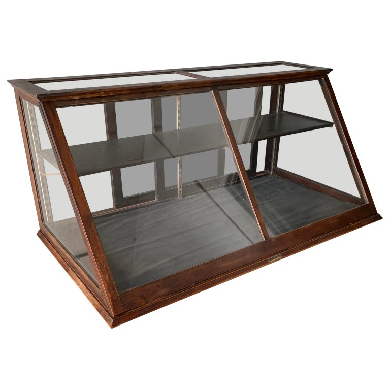 1stdibs Vitrine Antique One Tier Wooden Tabletop Store Display Cabinet Waddell Company Ohio American Late Victorian Wood In 2020 Furniture Home Decor Home Furniture