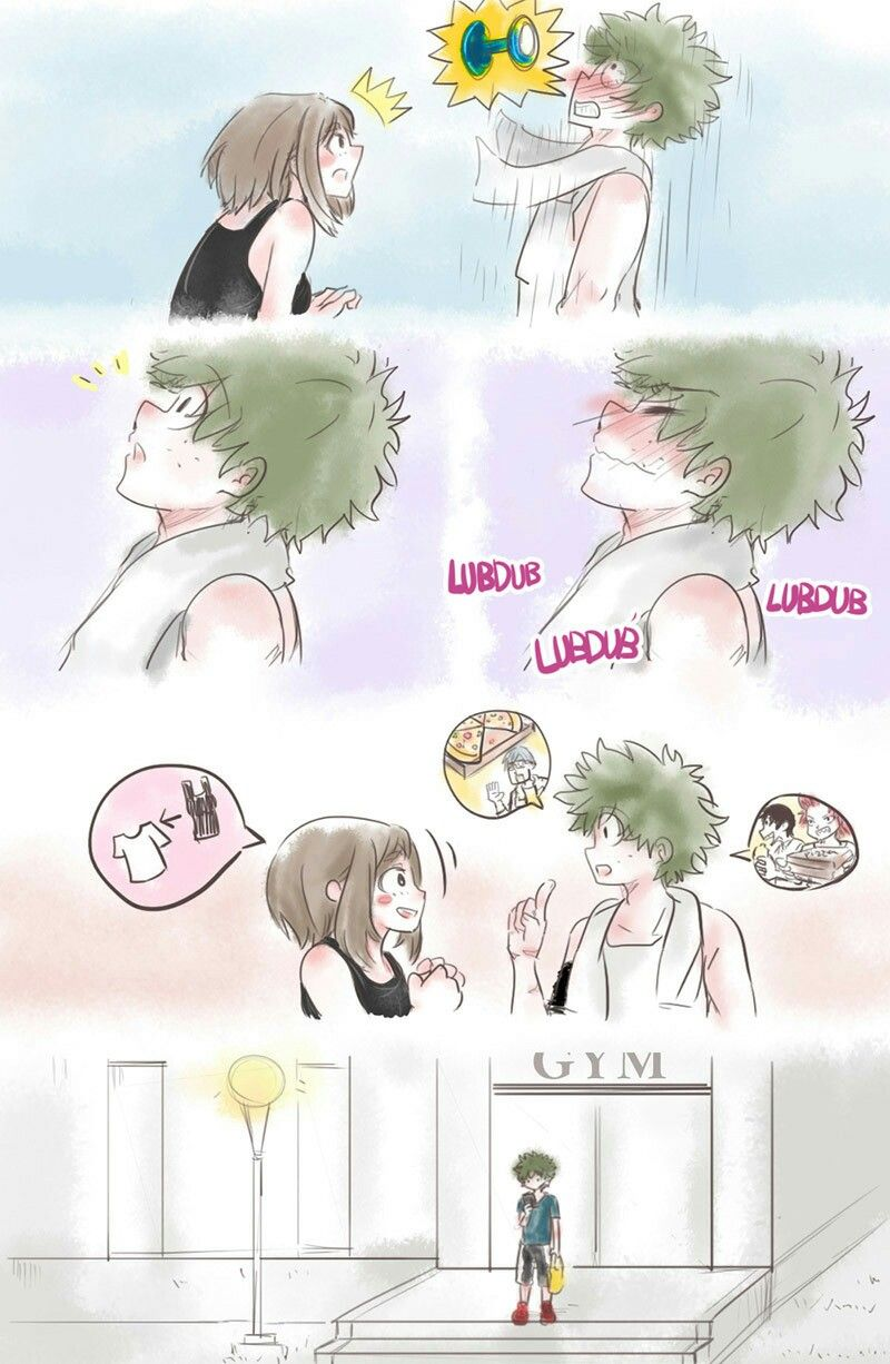 Midoriya And Uraraka At The Gym My Hero My Hero Academia Manga My Hero Academia Memes