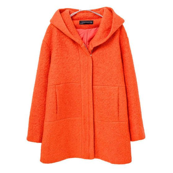Winter coats fashion pure color with hat design outerwear CY-E903X4
