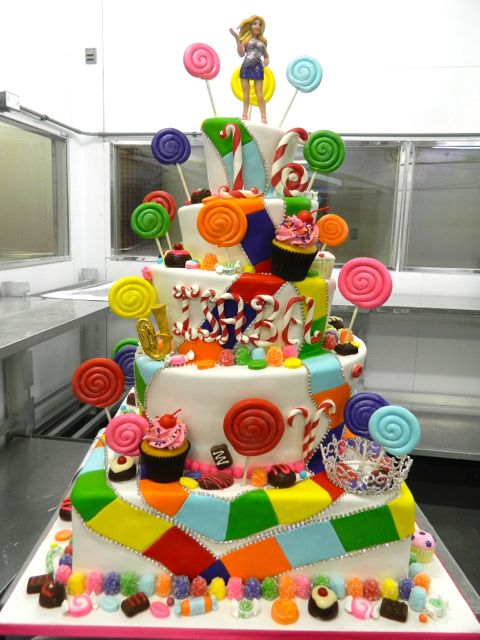 5 Tier Candy Coated Sweet 16 Carlos Bakery Cakes Birthday Cake