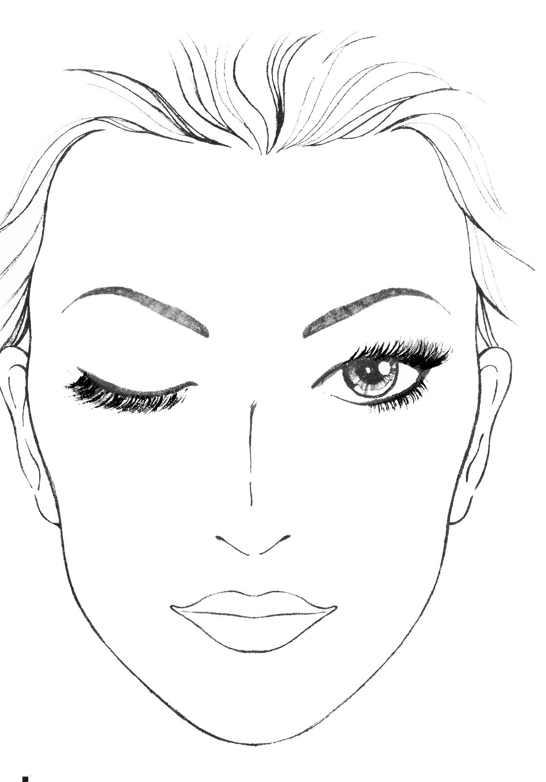 pin by tarn rudge on makeup sketch pinterest face charts face and makeup. Black Bedroom Furniture Sets. Home Design Ideas