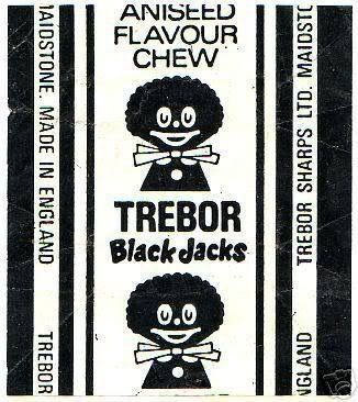 I'd quite forgotten the wrapper design; no thought, as a child, to it being racially charged.