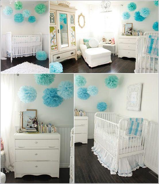 Décorez la chambre de votre bébé avec des pompons !