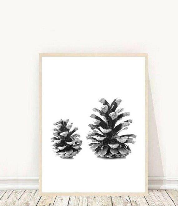 Pine Cone, Printable Art, Pine Cones Print, Nature Art