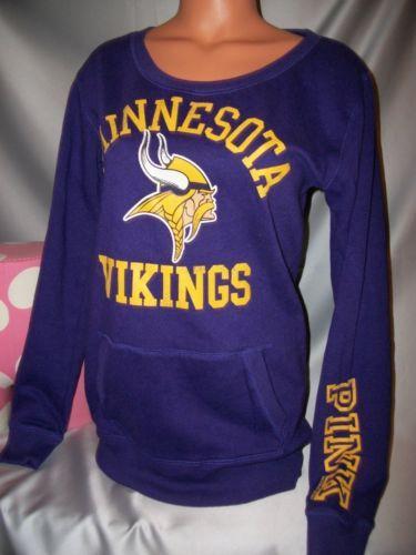 317e73fb Victorias Secret Pink Minnesota Vikings crew medium. since someone ...