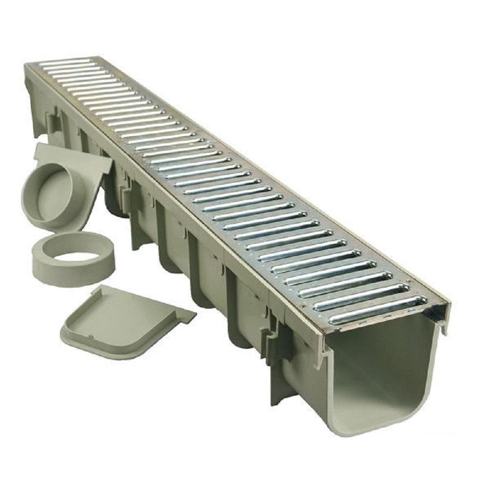Nds Pro Series 5 In X 40 In Channel Drain Kit With Metal
